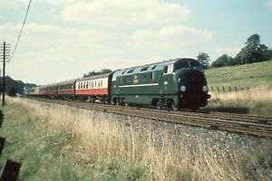 COLOUR-RAIL 35mm RAILWAY SLIDE: DE 207: CLASS 42: D802 FORMIDABLE