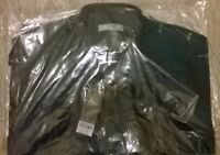 TOPMAN Mens black green stripe trendy smart shirt Size  XS/S/M NEW TopShop