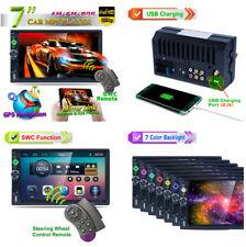 7'' 2DIN Bluetooth SWC Car Navigator MP3 MP5 Audio GPS RDS Mirror Link 8G Card