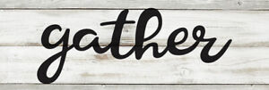 Gather Chic White Farmhouse Wood Sign Wall Décor Gift B3-06180028105