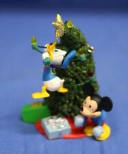 Mickey Mouse Donald Duck Trimming Tree Christmas Ornament Disney Hallmark 2007