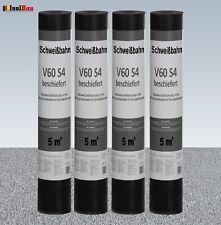 Schweißbahn V60 S4 Glasvlieseinlage beschiefert GRAU 4 x 5 m² DachPappe