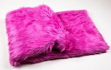 "Fuchsia  faux fur Throw Blanket / Bed Spread Coverlet / Soft 108"" x 60"""