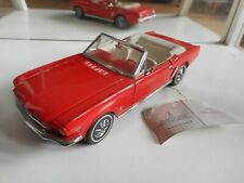 Franklin Mint Ford Mustang Cabriolet in Red on 1:24