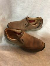 Clark's Active Vent Loafers Slip On Moc Shoe Dark Tan Nubuck Leather 15 M