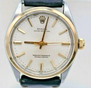 Vintage~ 1969~ Rolex Oyster Model 1002~18K & SS ~34mm~