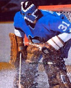 1975 Michel Plasse Pittsburgh Penguins Game Action Color 8 X 10 Photo Picture