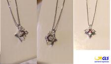 collier girocollo stella mod miluna oro bianco 18kt diamanti e rubino naturale