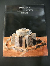 Sotheby's auction catalog Contemporary Art, Part II May 3 1988