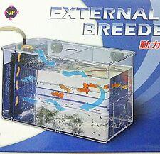 External Air Driven filter Spawning BOX Breeder feeding guppy Fish tank Aquarium