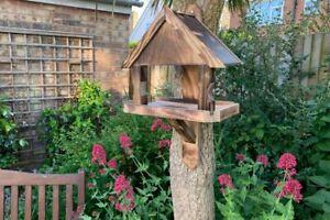Oakley Wall Bird Table | Garden Feeding Tree Wild Birds Hang Wooden Seed UK Made