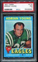 1971 Topps Football #174 ADRIAN YOUNG Philadelphia Eagles RC ROOKIE UER PSA 7 NM