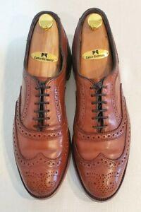 """ALLEN EDMONDS """"McAllister"""" Brown Leather Men's Oxford Shoes Size 10 D"""