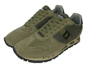 Blauer USA Homme Design Chaussures Baskets Mustang Army Vert Militaire
