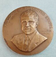 1973 RICHARD NIXON PRESIDENTIAL U.S. MINT INAUGURATION MEDAL - 76mm