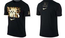 """UFC Jon Jones """"Bones Owns"""" Black Gold NIKE Dri-Fit T-shirt, NEW W/O TAGS, Size L"""