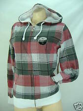 New Junior Womens O'neill XL Reversible Hoody Jacket Red Plaid