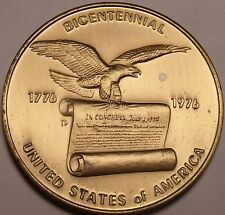 Humongous 52mm Solid Bronze Unc Bi-Centennial Medallion~Awesome~Free Shipping