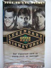 2004-05 UPPER DECK HOCKEY LEGENDARY SIGNATURES, FACTORY SEALED PACK  !!