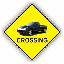 CHEVY SSR BLACK TRUCK NOVELTY CROSSING SIGN POLY