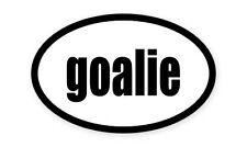 "Goalie Soccer  Oval car window bumper sticker decal 5"" x 3"""