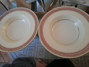 ROYAL WORCESTER ELENOR 2 BONE CHINA  dishes pink gold perfect