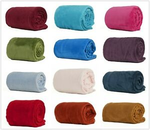 200*230CM Black Pink Grey Violet Fleece Blanket Luxury Warm Home Sofa Bed Throw
