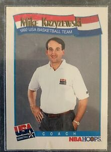 USA Dream Team Coach Mike Krzyzewski 1992 NBA HOOPS #588 VTG Basketball Card