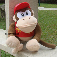 Large Diddy Kong Super Mario Bros Plush Toy Monkey Stuffed Animal Soft Doll 11""