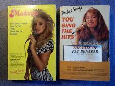 Pocket Songs - Madonna + Pat Benatar, Karoke cassettes, 1 each