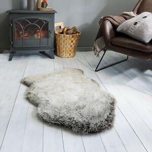 Freja Copenhagen Thick Pile Faux Fur Sheepskin Charcoal Grey Rug various sizes
