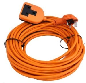 10M Extension Lead  - Heavy Duty, High Visibility (1.5mm, 3 core)
