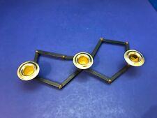 Carter Craft Brass Hinged Adjustible 3 Lite Taper Candleholder 10 Removable Link