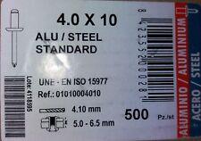 2,4 mm x 6 mm aveugles 25pk Pop Rivets dôme noir ouvert corps en aluminium tige en acier