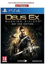 Deus Ex Mankind Divided Day One Edition PS4 Brand New *DISPATCHED FROM BRISBANE*