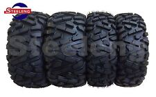 Set of 4 New ATV/UTV Tires 2 of 25x8-12 Front and  2 of 25x10-12 Rear /6PR P350