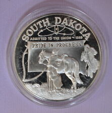 FRANKLIN MINT  STERLING SILVER STATE SOUTH DAKOTA FREE SHIP