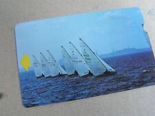 Estonia  used magnetic card, Yachts sailing