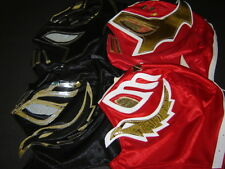 LOT 4 KIDS COMBINED SIN CARA/REY MYSTERIO RED-BLACK WRESTLING MASKS niños FREE S