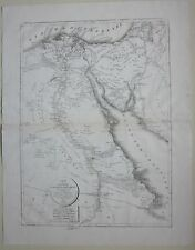 1821 CARTE DE L'EGYPTE de Selves Egitto Egypt Égypte مصر litografia map