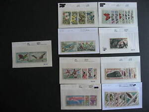 Central Africa MNH collection birds, butterflies etc assembled in sales cards
