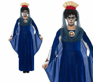 Adult Day of the Dead Skeleton Sacred Mary Costume Halloween Ladies Fancy Dress