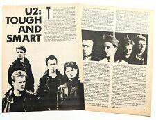 U2 / Bono / War Era Tough & Smart 2 Page Magazine Article / Interview Complete
