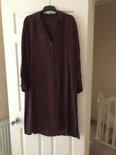 Zara Women Shirt-Style Tunic-Dress With Vents, Size XL, Bnwot