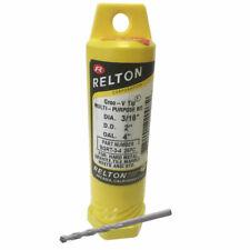 """3/16"""" x 4"""" Relton GRT Groo-V Tip Porcelain & Stone Tile Drill Bits - Pack of 250"""