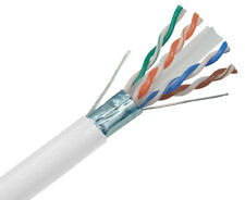 CAT6A Cable SOLID COPPER Shielded 10G 23AWG F/UTP Ethernet Network 1000' 2242RW