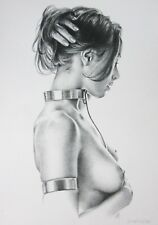 Boris Vallejo Vintage Art Nude Woman Submissive GGA 1982 Choker Fantasy Print