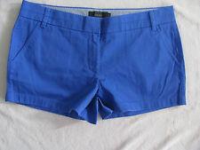"J. Crew Chino Cotton Shorts 3"" Inseam -Dark Periwinkle Blue -Size 12- NWT"