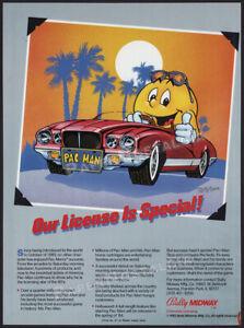 PAC-MAN__Original 1984 Trade print AD / ADVERT / licensing promo_Bally Midway_Ms