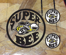 Super Bee Vinyl Die Cut Decal Sticker Dodge Challenger Charger Racing 3 for 1